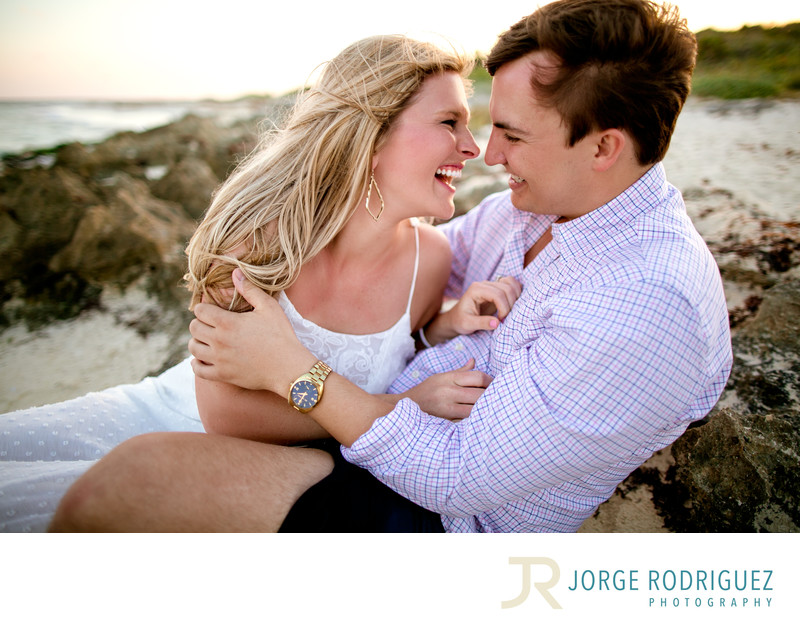 Emily & Jeffrey Engagement Portraits at Sandos Playacar, Playa del Carmen, Mexico