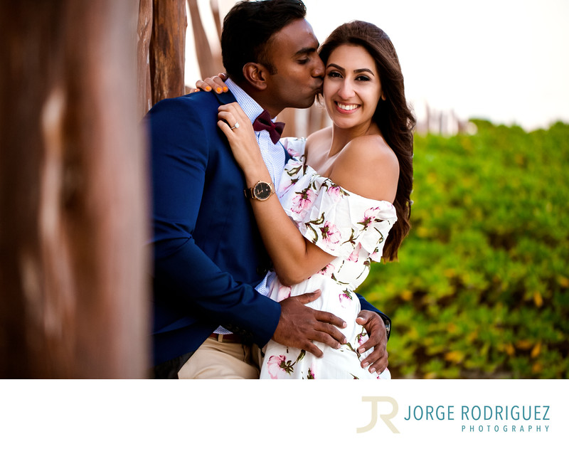 Justin & Shadack Engagement Portraits at The Ritz Carlton Cancun, Mexico