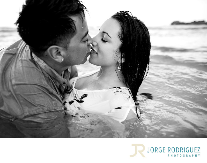 Rena + Luis Engagement Portraits at Tulum, Mexico