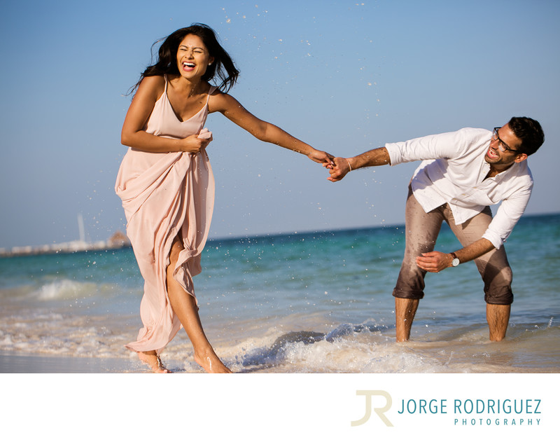 Riviera Maya Engagement Photo