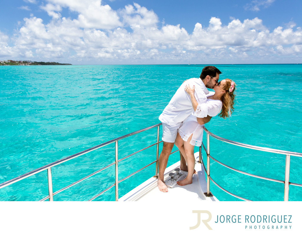 Isla Mujeres Mexico Catamaran Wedding Photographer