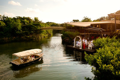 Lagoon Deck Rosewood Mayakoba Wedding