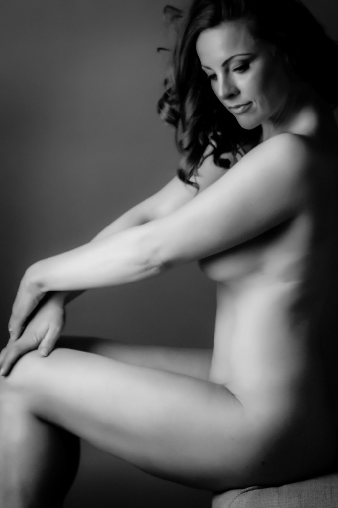 Woman over 40 in boudoir poses