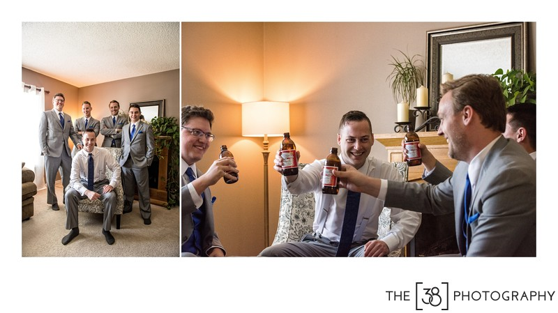 Groom and His Groomsmen Having Fun Before the Ceremony
