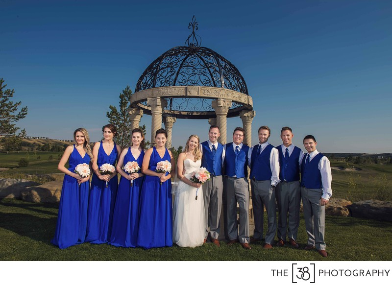 Bridal Party Portraits at Blue Devil Golf Course