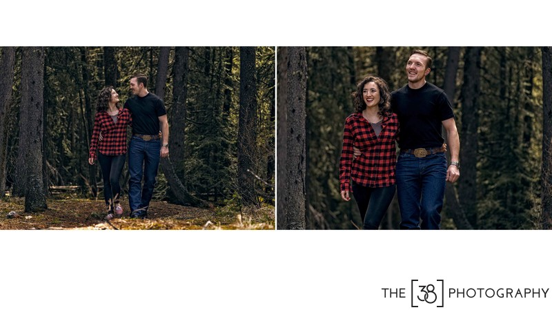 Engagement at Johnson Lake Album Walking in the Woods