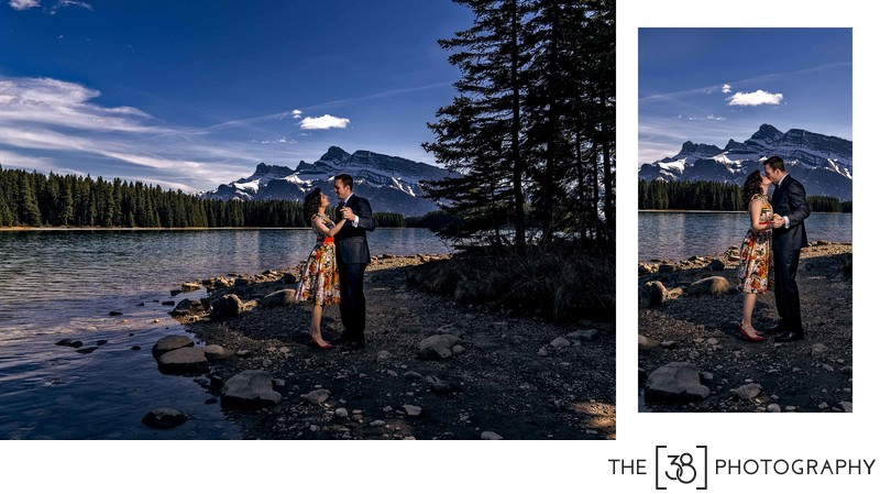Engagement at Johnson Lake Album Dancing Couple
