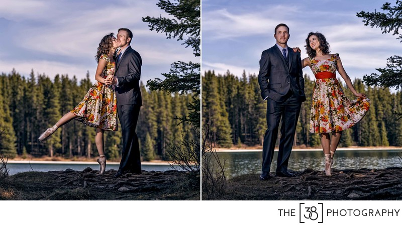Engagement at Johnson Lake Album Ballerina Portraits