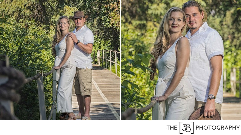 Engagement at Jurassic Forest - Portraits in the Park