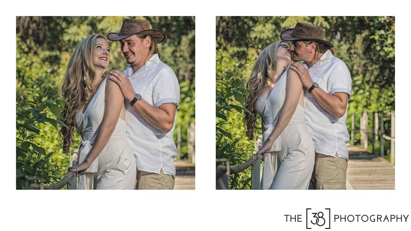 Engagement at Jurassic Forest - Kiss in the Park