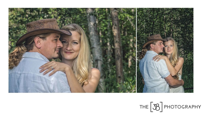 Engagement at Jurassic Forest - Indiana Jones Portrait