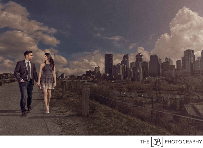 Crescent Heights Park Calgary Engagement Session