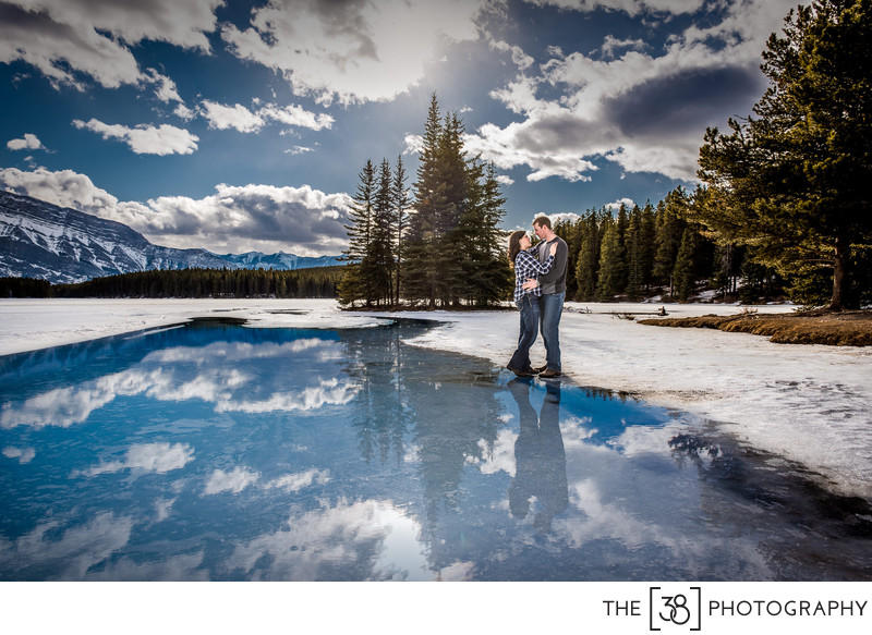 Banff National Park Two Jack Lake Photo Session