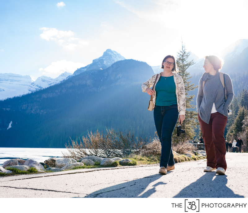 Sunny Day Portrait at Lake Louise