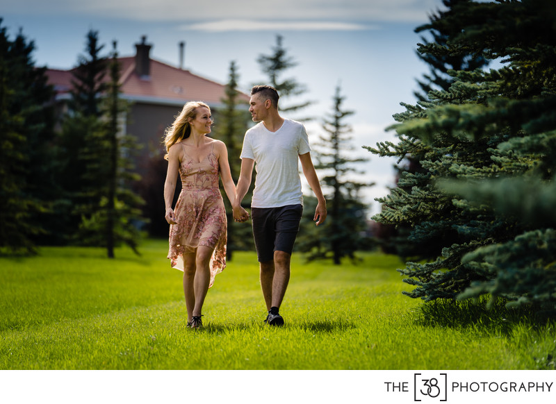 Summer Time Engagement Mini Session at the Acreage