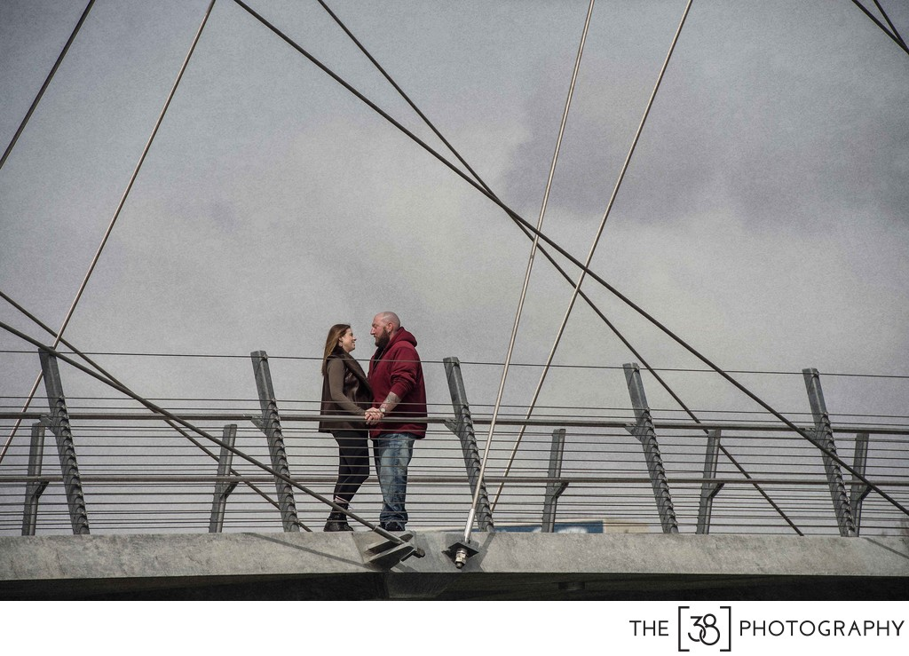 St. Patrick's Bridge Engagement Photos