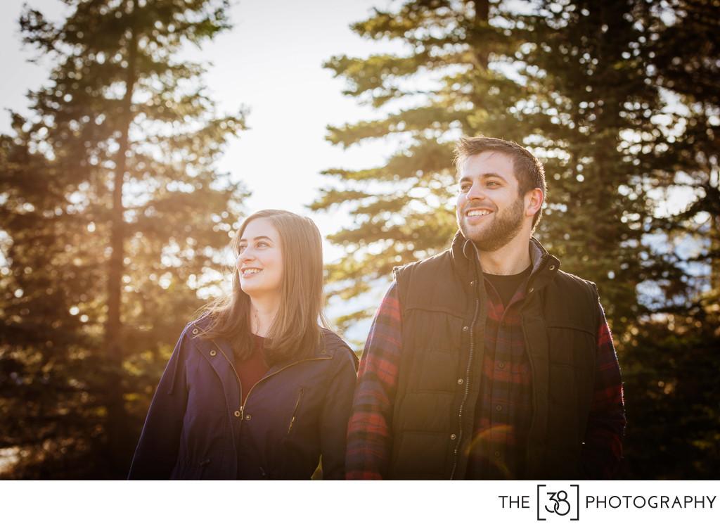 Fall Engagement Photos at Two Jack Lake