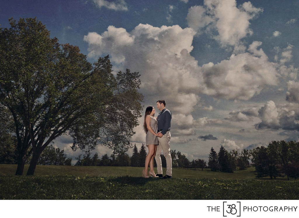 Summer Engagement Photos at Confederation Park
