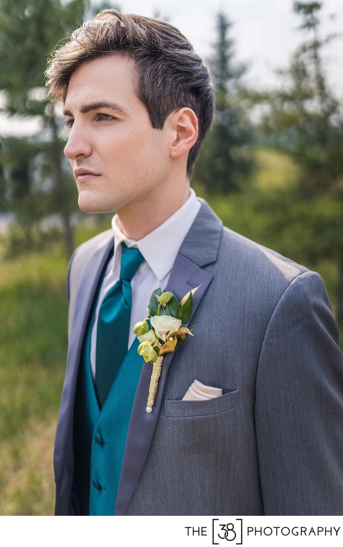 Groom Portrait at Bow Valley Restaurant