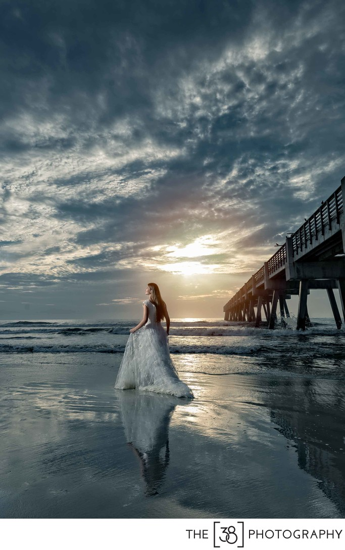 Jacksonville Beach Pier Wedding Photos