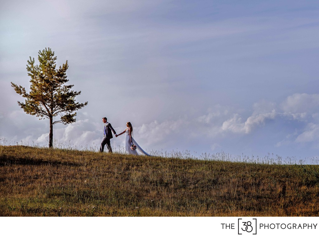 Wedding Portraits at the Golf Course