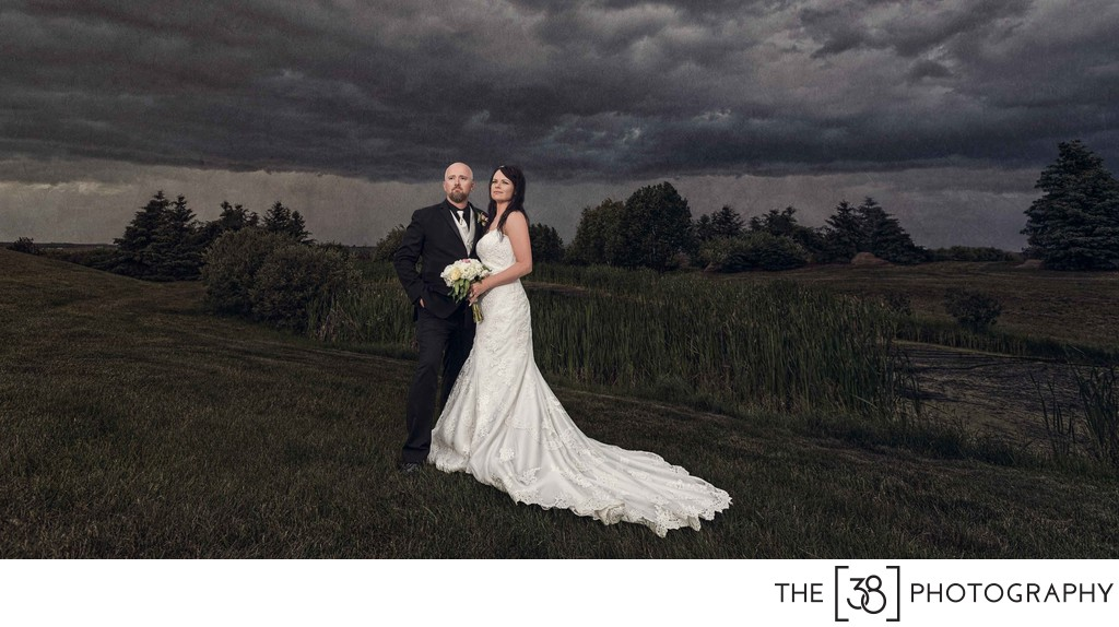 Apple Creek Golf Course - Bride and Groom Portrait