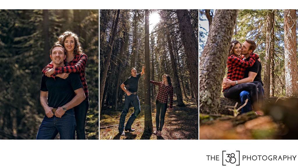 Engagement at Johnson Lake Album Portraits in the Forest