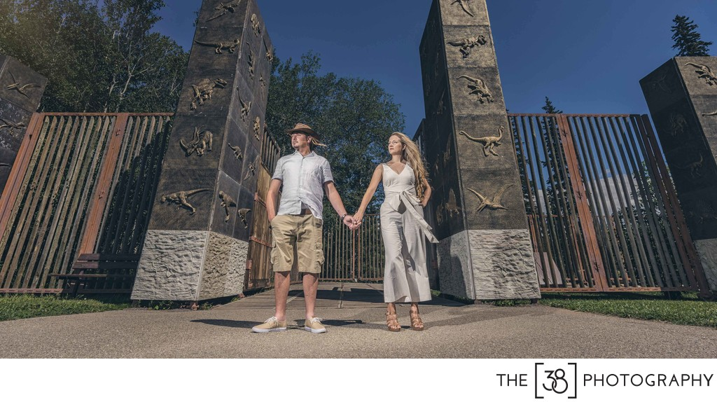 Engagement at Jurassic Forest - Entrance to the Park