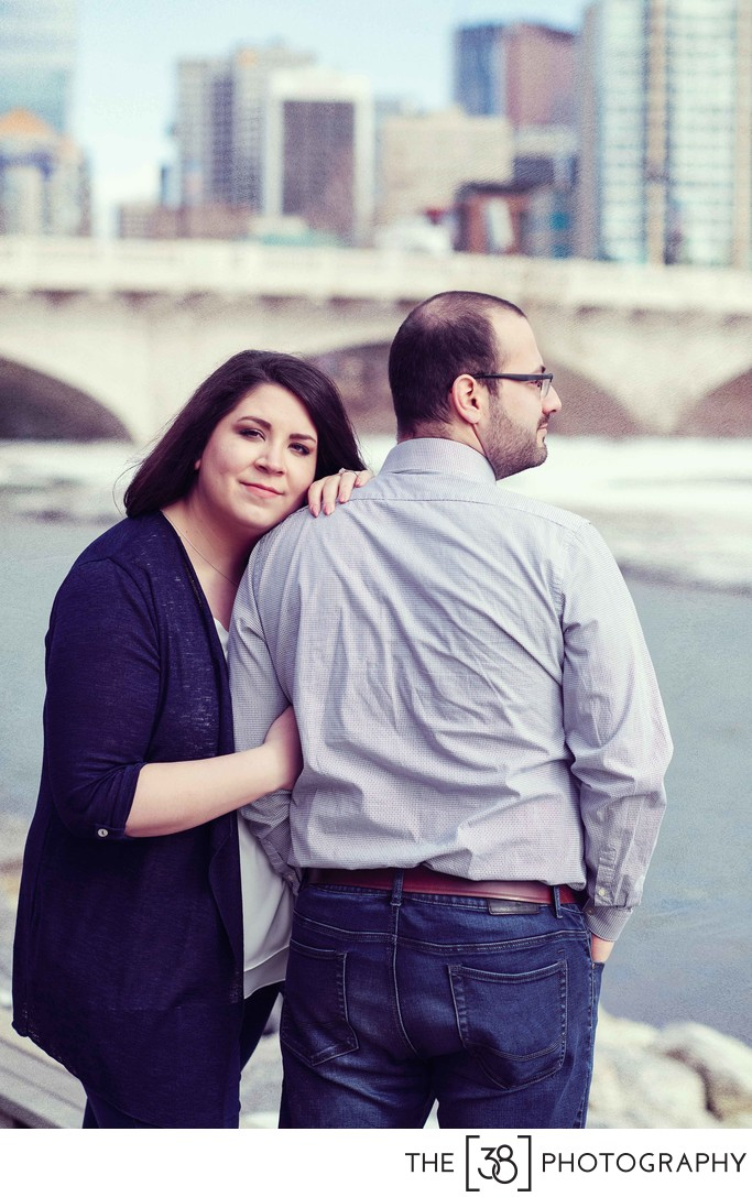 Spring Engagement Session at Poppy Plaza Calgary