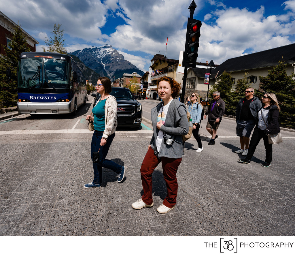 Walk on the Streets of Town Of Banff