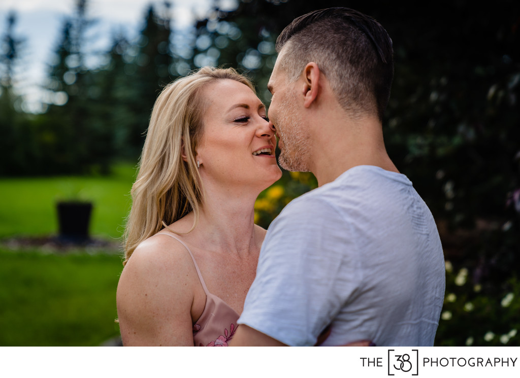 Kissing a Bride-to-be at the Acreage