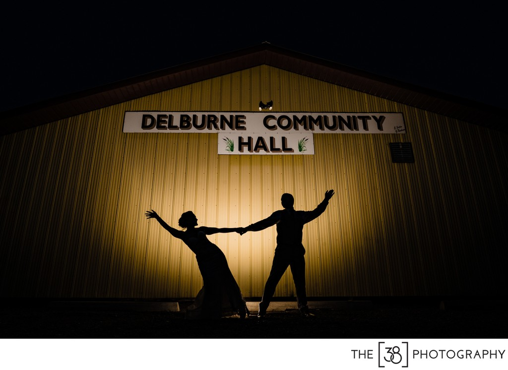 Delburne Wedding Silhouette Photo
