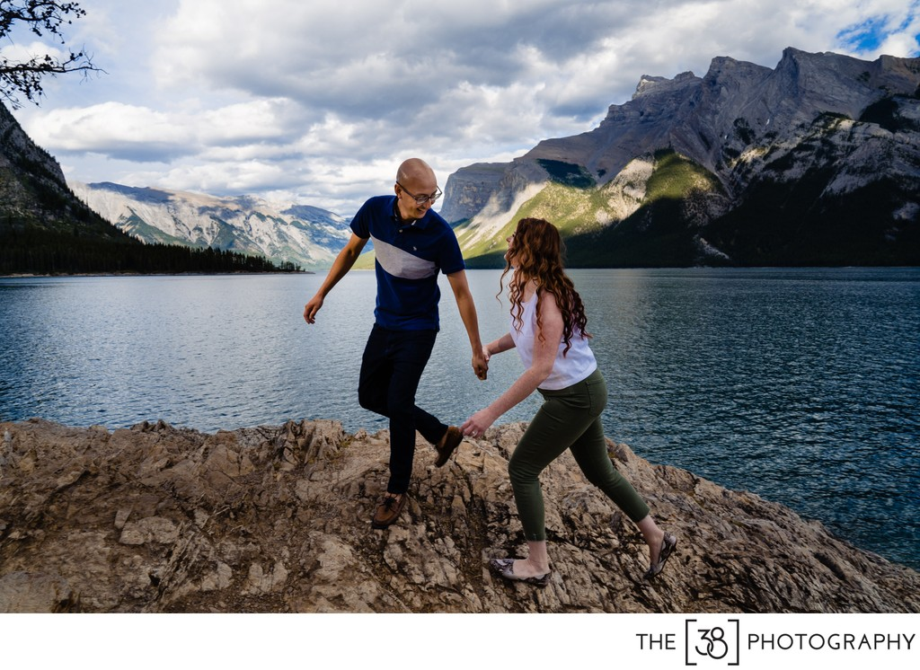 Summer Engagement Session at Lake Minnewanka