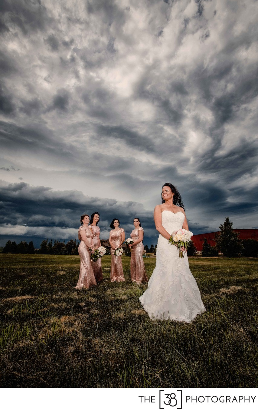 Rainy Wedding Day Portraits