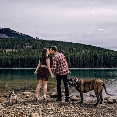 Johnson Lake Engagement Photos
