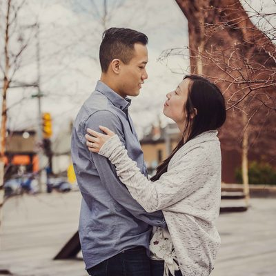 Calgary Poppy Plaza Engagement Photos