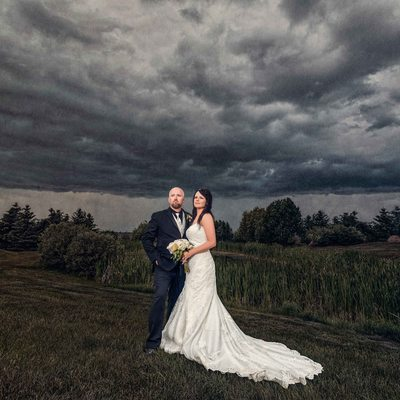 Rainy Day Wedding Photo at Apple Creek Golf Course