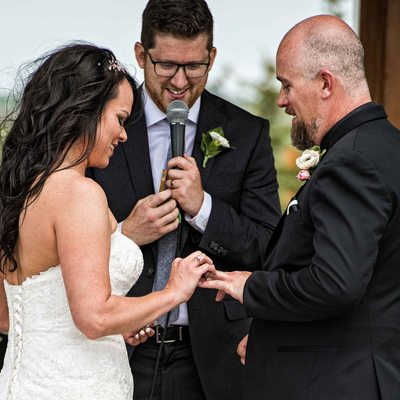 Wedding Rings Exchange at the Ceremony