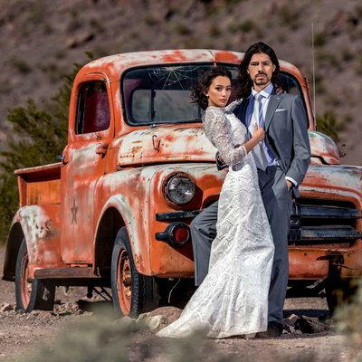 Wedding Portraits at Nelson Ghost Town