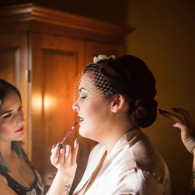Bride Preparation at Buffalo Mountain Lodge