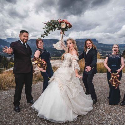 Bridal Party Portrait at Fairmont Hot Springs Resort