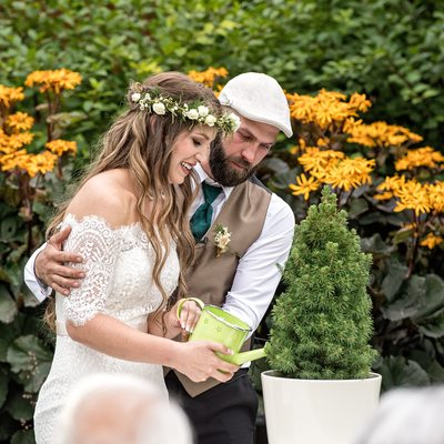 Summer Wedding Ceremony at Calgary Zoo