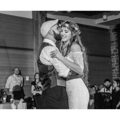 A Bride and Groom First Dance at Enmax Conservatory