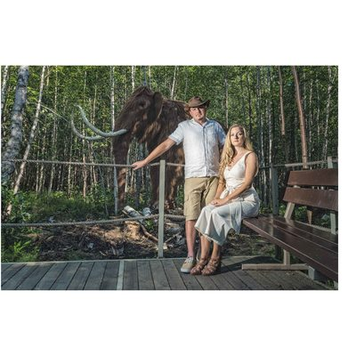 Engagement at Jurassic Forest - Mammoth Family Photo