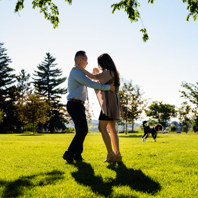 Engagement Photos Dancing in the Park