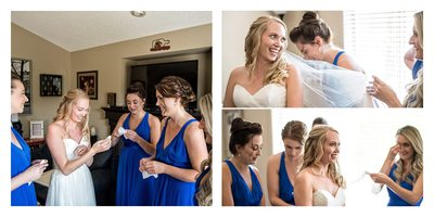 Wedding Day Portraits of a Bride and her Bridesmaids