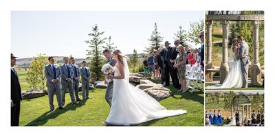 Summer Wedding Ceremony at Golf Course in Calgary