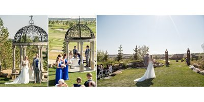 Wedding Ceremony Moments at Calgary Golf Course