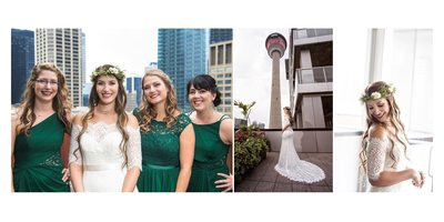 Portraits of a Bride and her Bridesmaids