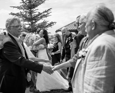 Receiving Line after Wedding Ceremony at Golf Course